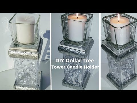 DIY Dollar Tree GLAM TOWER Candle Holder | DIY Home Decor