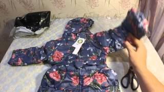 Посылка из Китая. Детский пуховик.(http://ru.aliexpress.com/store/product/New-2015-Winter-Girls-90-Down-Jacket-Thick-Hooded-Duck-Down-Children-Floral-Coat-Medium-long/ ..., 2015-12-02T18:32:43.000Z)