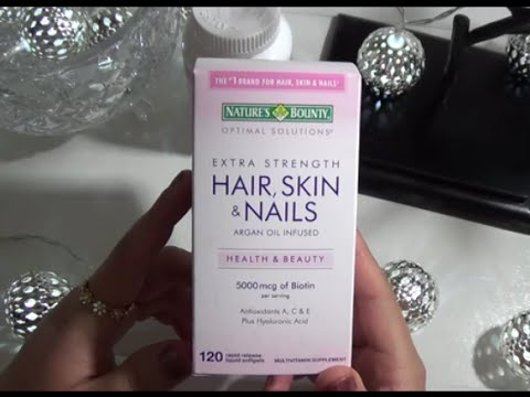 Nature 's Bounty Hair Skin & Nails│REVIEW│RESEÑA │Amer myriam