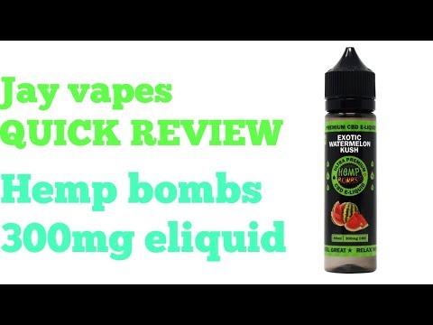 Jay vapes QUICK REVIEW hemp bombs 300mg cbd eliquid - YouTube