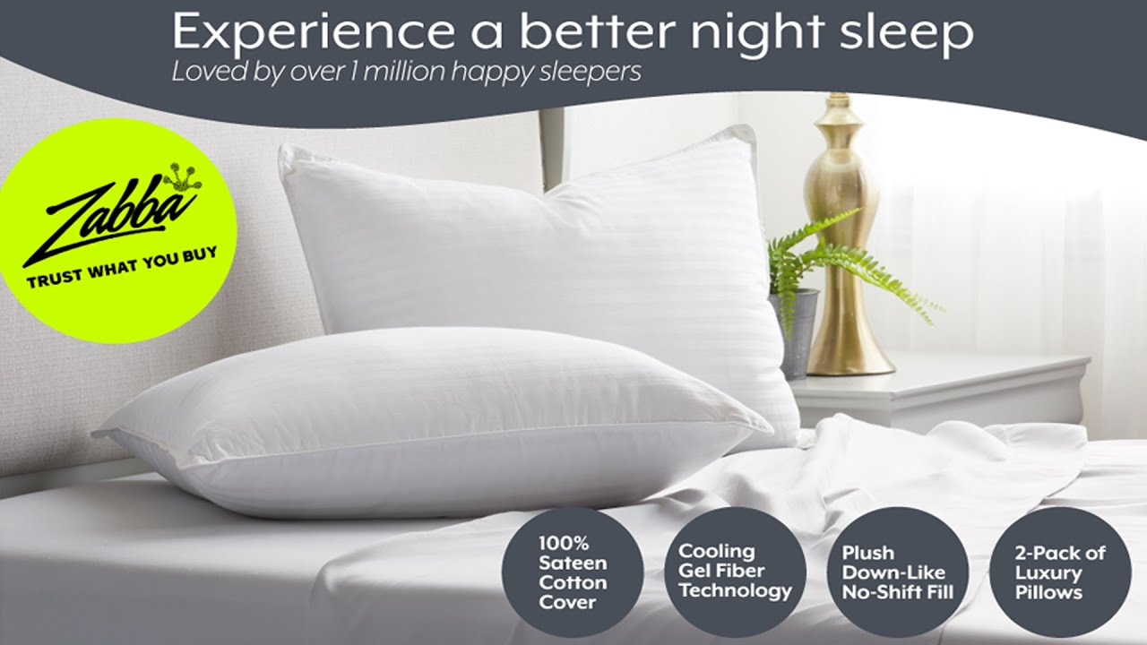 - Luxury Plush Beckham Hotel Collection Gel Pillow Dust Mite... 2-Pack
