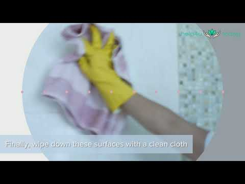 How to clean tiles, ceilings and walls in your bathroom