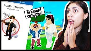 MY LITTLE SISTER IS BANNED FROM ROBLOX! (PRANK GONE WRONG) - Roblox Roleplay
