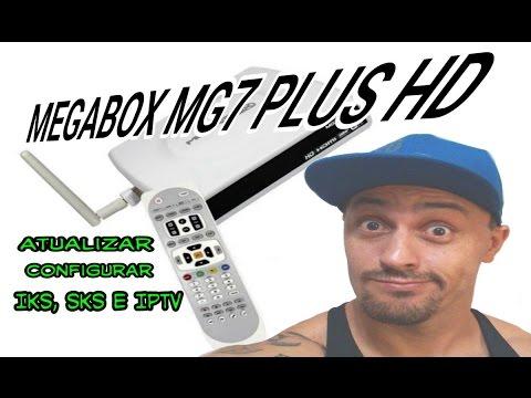 MEGABOX MG7 PLUS hd atualizar e configurar canais,sks,iks e iptv