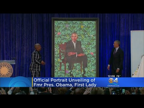 Official Portrait Unveiled Of Fmr. President Obama, First Lady
