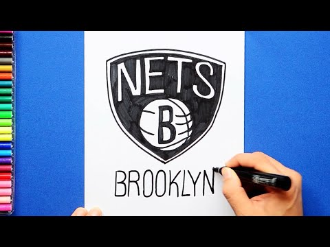 How to draw and color the Brooklyn Nets Logo - NBA Team Series