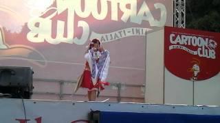 Reimu (Touhou project) cosplay performance - rimini comix 2011