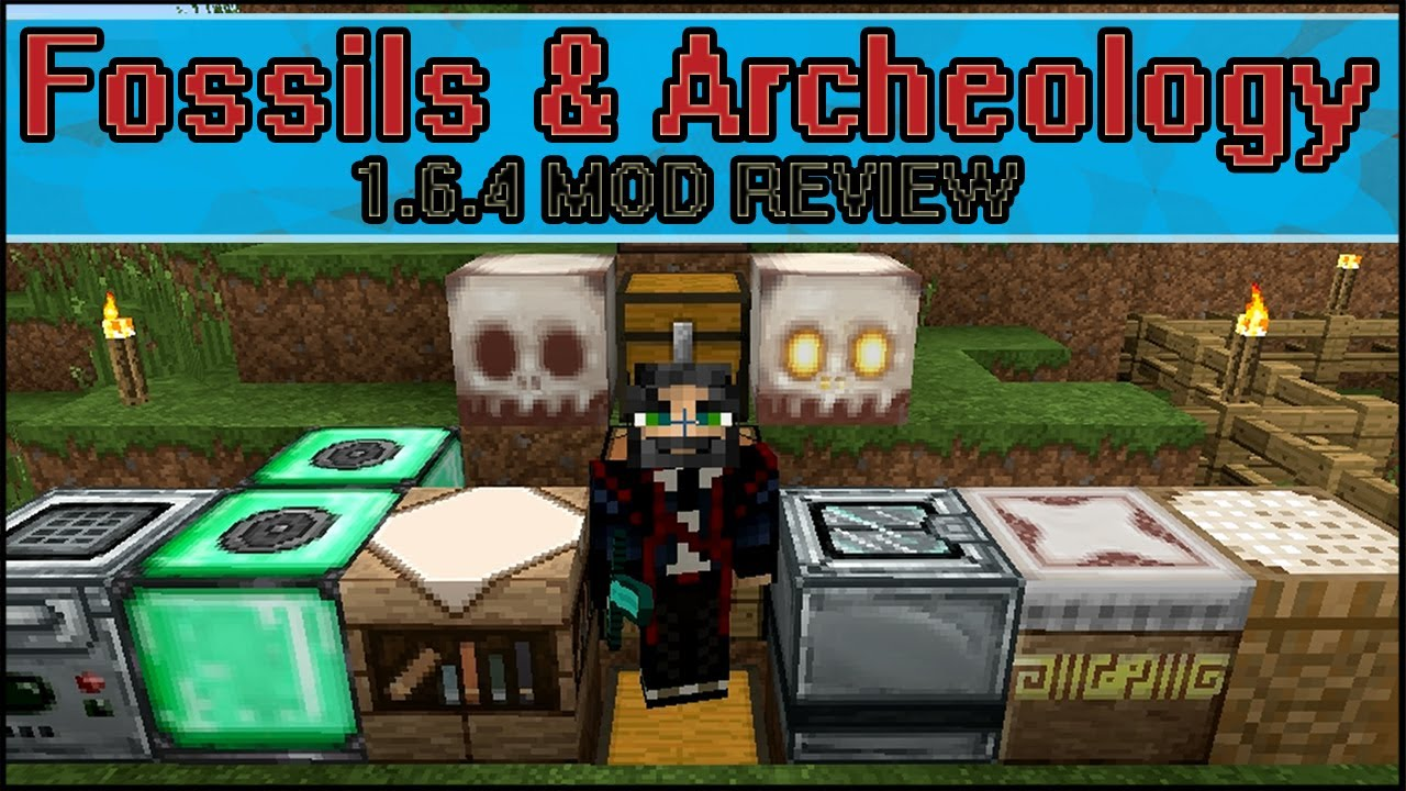 Minecraft Fossils and Archeology 1 6 4 (Dinosaurs!) - Mod Review!