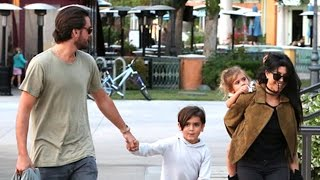 Scott Disick And Kourtney Kardashian Enjoy A Family Dinner