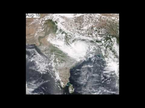 Time-lapse of Indian Monsoon as seen from Space (watch with audio)