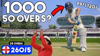 Can We SMASH 1000 Runs in 50 Overs? World Record Attempt | Cricket 19
