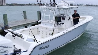 MAKO Boats: 2017 334 CC Walk Around Review with George Poveromo