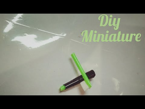 ||| DIY ||| miniature brush and toothpaste with cotton buds easy