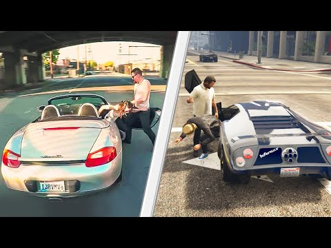 REACTING TO GTA 5 vs REAL LIFE!