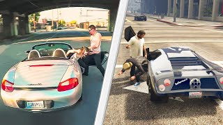 REACTING TO GTA 5 vs. REAL LIFE!