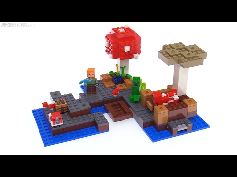LEGO Minecraft The Mushroom Island review 🍄 21129