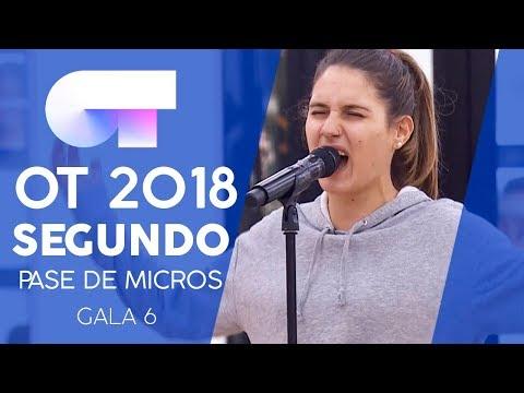 """SET FIRE TO THE RAIN"" - SABELA | Segundo pase de micros Gala 6 | OT 2018"