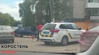 По вулиці Сосновського в Коростені зіштовхнулись два автомобілі