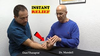 Shocking Quick Forearm Stretch for Carpal Tunnel, Tendonitis, Tennis Elbow - Dr Mandell, D.C