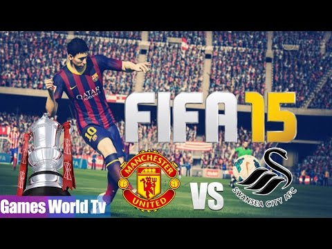 (PS4) FIFA 15   F A  CUP FINAL   MANCHESTER UTD vs  SWANSEA CITY