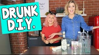 D.I.Y. LIQUOR LANTERNS & PLANTERS (ft. MR. KATE!!!) // Grace Helbig