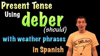 01058 Spanish Lesson - El tiempo, el clima y deber