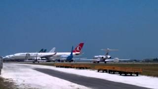 ba boeing 777 200er g ymmf departing vrmm hulhule male maldives rwy 36