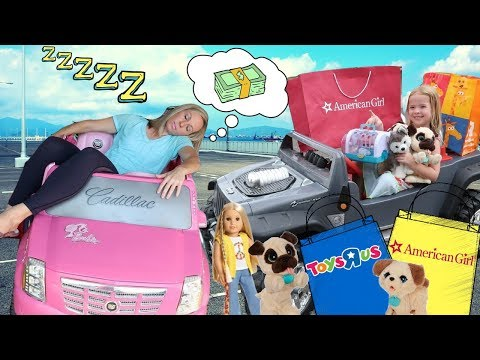 Maya Goes To The Crazy Car Store And Pretend Toy Store