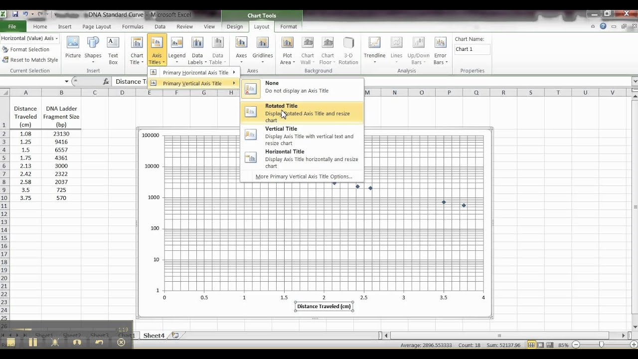 how to make a semi log graph in excel 2010 making a semi log graph in excel youtube4 cycle. Black Bedroom Furniture Sets. Home Design Ideas