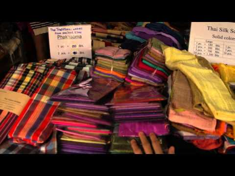 Real Thai Silk Scarves at the Famous Weekend Market in Bankok!!