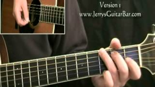 How To Play Springsteen Born To Run Acoustic Introduction