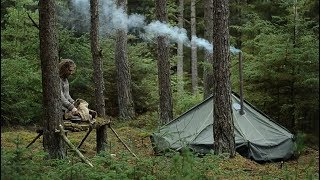 BUSHCRAFT TRIP - HOT TENT, SPOON CARVING, TABLE, RACK, REINDEER SKIN, BILLHOOK, YAKUT KNIFE