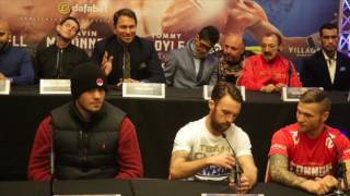 GAVIN McDONNELL v REY VARGAS - OFFICIAL PRESS CONFERENCE WITH EDDIE HEARN, LUKE CAMPBELL /DAVE ALLEN