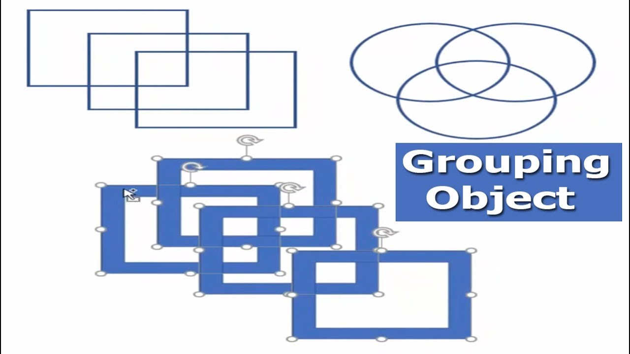 How To Grouping Shape Or Object In Microsoft Word 2017 Youtube