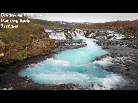 Bruarfoss Waterfall Iceland Mavic Air 4k