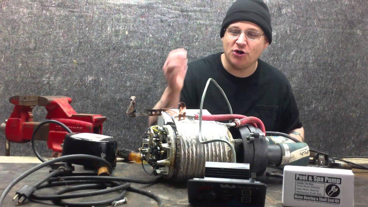 Softub Pump Puuf1003 Rebuild Part 002 Youtube