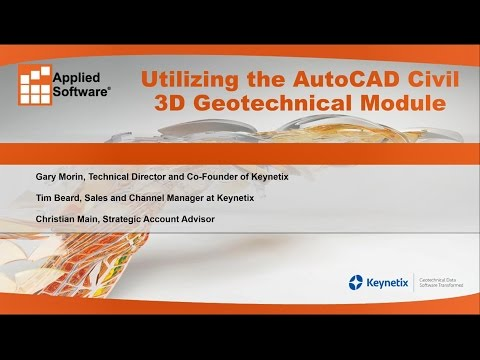 Utilizing the AutoCAD Civil 3D Geotechnical Module for Geotechnical Data