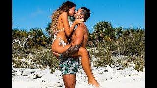 Love Island's Bikini Clad Zara McDermott Smooches Her Shirtless Beau Adam Collard
