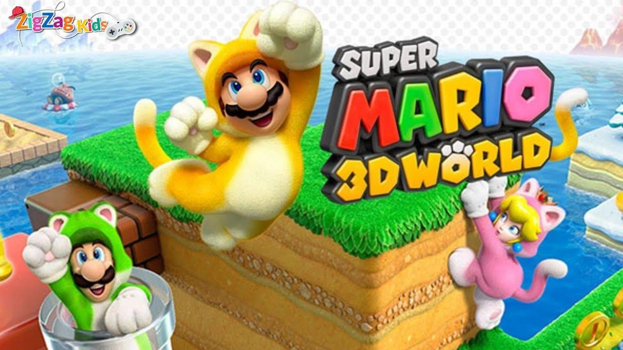 Download Super Mario 3D Worlds | Full Movie Game | ZigZag Kids HD