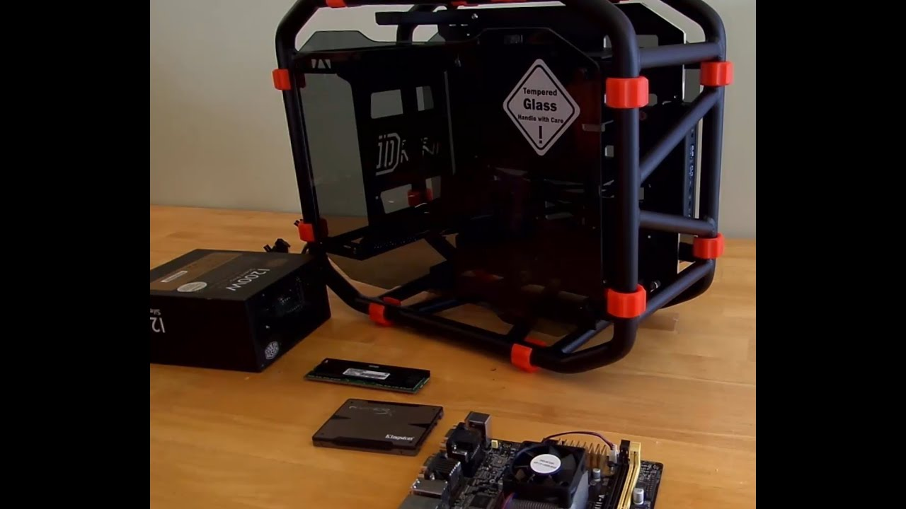 Building a PC with an In-Win D-Frame Mini Case - YouTube