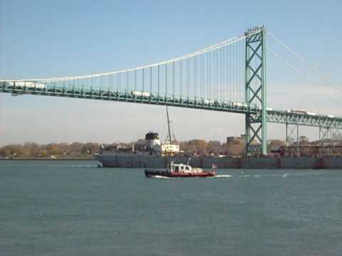 MV Calumet Last Mail Delivery and Salute (Leslie Air 425) 11-14-07