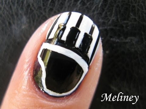 Nail Art Tutorial Piano Keys Music Black And White French Tip Design For Short Nails