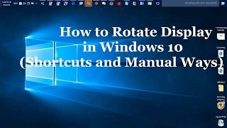 How to rotate screen with keyboard and mouse