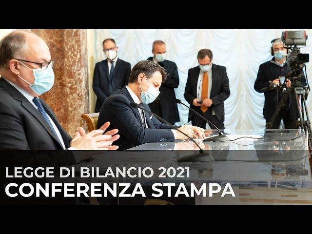 Legge di bilancio 2021, conferenza stampa a Palazzo Chigi
