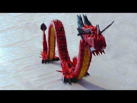 Модульное оригами красный