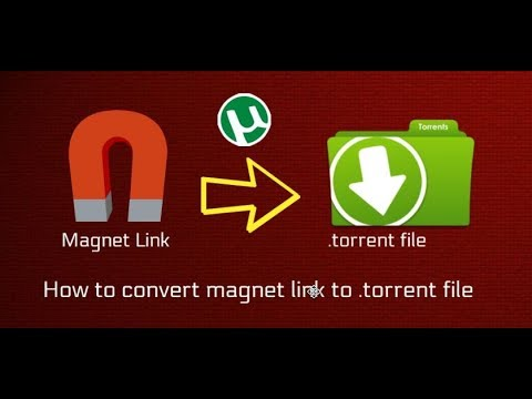 How to convert magnet link to .torrent file