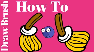 How To Draw Brush| How To Draw Brush Easily| How To Draw Brush Step By Ste[