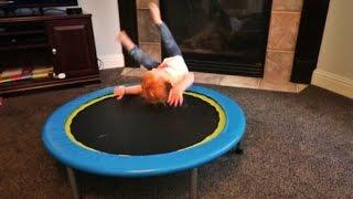 Baby Flip on Trampoline!!