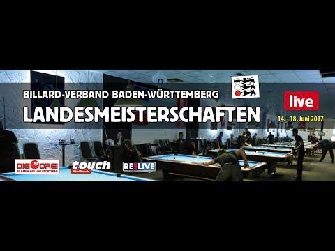 Landesmeisterschaften 2017  Pool Billard aus Baden Württemberg Tag 2