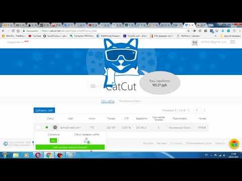 CatCut Монетизация сайта с низкой посещаемостью Вывод денег